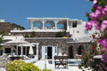 Villa on santorini island in the cyclades greece Stock Images