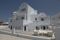 Villa on santorini island in the cyclades greece Royalty Free Stock Photo