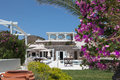 Villa on santorini island in the cyclades greece Royalty Free Stock Photography