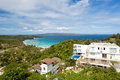 Villa with swimming pool from view point boracay philippines Stock Photo