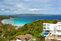 Villa with swimming pool from view point boracay philippines Royalty Free Stock Photos