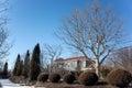Villa in winter Royalty Free Stock Photo