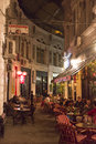 Villacrosse passage, Bucharest, at night Royalty Free Stock Photo