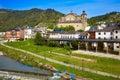 Villafranca del bierzo by way of saint james leon burbia river in spain Stock Images