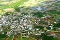 Village aerial photo Royalty Free Stock Photo