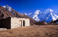 Village along the trail to mount everest base camp nepal himalaya Royalty Free Stock Photography
