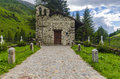 The village in the alps a small village cemetery lombardy adamello region brescia northern italy Royalty Free Stock Images