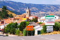 Village in aragon frias de albarracin general view of mountains teruel Royalty Free Stock Photography