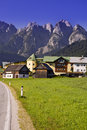 Village in Austrian Alps Royalty Free Stock Photos