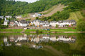 Village at the bank of the Moselle Royalty Free Stock Images