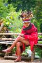The village of Batad, Philippines March 3, 2015. Close-up portra Royalty Free Stock Photo