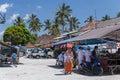 Village of besakih bali indonesia circa october roadside restaurant at village market in bali indonesia Stock Image