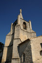 Village of bonnieux in provence france the church Stock Photo