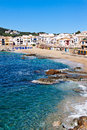 The village of calella de palafrugell costa brava catalonia spain Stock Images