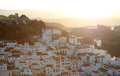 Village Casares at sunset, Spain Stock Photography