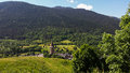 Village in Catalonia,Pyrenees Royalty Free Stock Photo