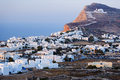 Village of chora picturesque town a seaside on the island folegandros greece Royalty Free Stock Images