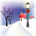 Village Christmas lantern