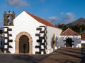 Village church in the canary islands ermita nuestra senora de la caridad a catholic of tindaya fuerteventura Royalty Free Stock Photo