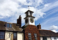 Village clock tower Royalty Free Stock Photo