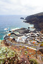 Village on the coast small el hierro canary islands Stock Images