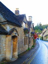 Village in the cotswolds castle combe uk Royalty Free Stock Photography
