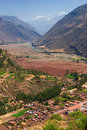 Village of Coya, Sacred Valley, Cusco, Peru Stock Image