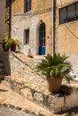 Village in crete greece typical courtyard the of kritsa Stock Photos