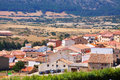 Village dans aragon frias de albarracin Photo stock