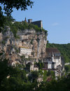 Village de pélerin de Rocamadour Photo libre de droits