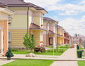Village district new houses street Royalty Free Stock Photography