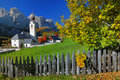 Village in the Dolomite Alps Stock Photos