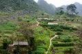 The village on the Van stone-plateau, Viet Nam Royalty Free Stock Photo