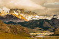 Village of El Chalten Royalty Free Stock Photo