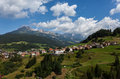 Village in the european alps italian dolomites summer Stock Image