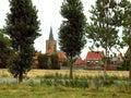 Village in flanders, Belgium Stock Images