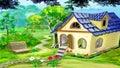 Village Garden House Royalty Free Stock Photo
