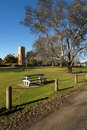 Village Green, Westbury, Tasmania Stock Images