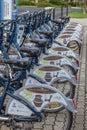 The village Heviz Hungary has a public bike sharing system, 19 Royalty Free Stock Photo