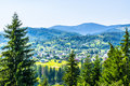 Village in the hills Royalty Free Stock Photo