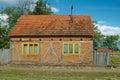 Village house in the country in croatia part slavonija willage trnava Stock Image