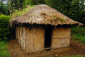 Village house at rural area papua new guinea Stock Photos