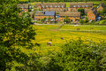 Village with houses in countryside Royalty Free Stock Photography