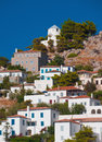 Village on the island of Hydra, Greece Royalty Free Stock Photography