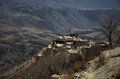 Village of Jhong, Muktinath District, Nepal Royalty Free Stock Image