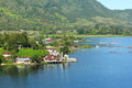 Village by lake toba indonesia a small indoneisa Stock Photo