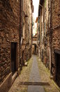 Village lane passage pigna liguria italy medieval and stone arched province of imperia Royalty Free Stock Photo