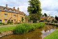 Village of Lower Slaughter Stock Image
