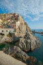 Village of Manarola, Cinque Terre, Italy Royalty Free Stock Photo