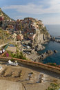 Village of Manarola, Italy: Th Royalty Free Stock Image